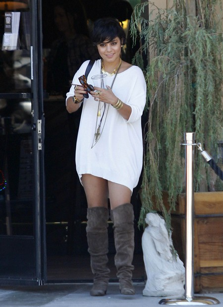 Vanessa Hudgens Stylish Day At The Organic Watering Hole