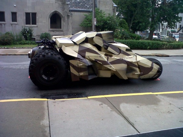 Rocket Launcher Tumbler On The New Batman Film 'Dark Knight Rises'