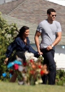 Kim Kardashian and Kris Humphries Visit Gravesite