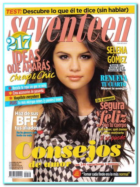 Selena Gomez cover Seventeen Mexico