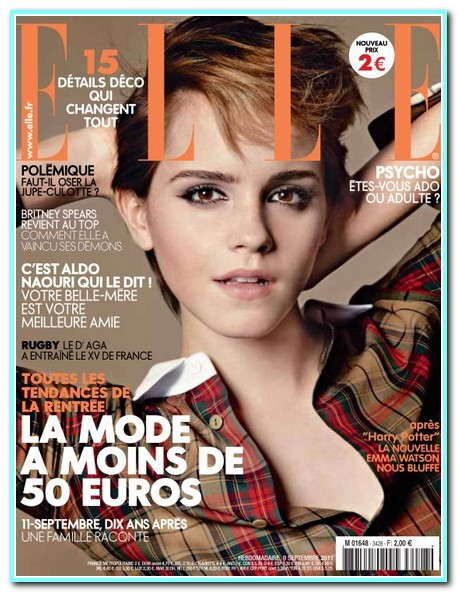 Emma Watson Covers Elle France September 2011