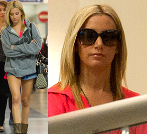 Ashley Tisdale at LAX