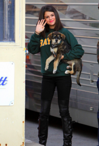 Selena Shows Off New Puppy