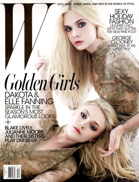 Elle Fanning and Dakota Fanning Cover December 2011 W Magazine