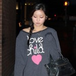 Pregnant Brenda Song Hides Her Baby Bump In Love Child Sweatshirt? (Photos)