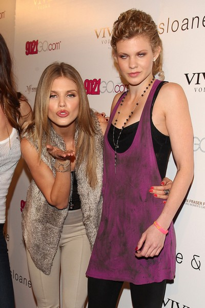 Annalynne & Angel McCord Attends The Sloane & Tate Launch Party