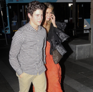 Nick Jonas and Girlfriend Enjoy Night Out