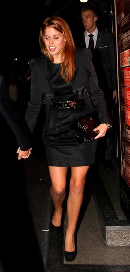 Princess Beatrice Lets Loose During Holiday Bash