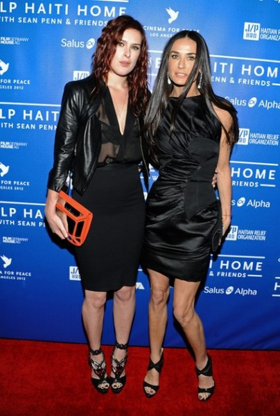 Demi Moore and Daughter Rumer Willis @ Cinema For Peace Event
