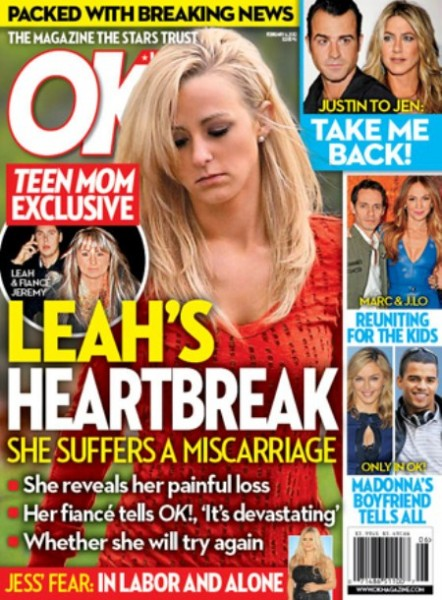 Teen Mom Leah Messer Reveals Her Nightmare After Having A Miscarriage (Photo)