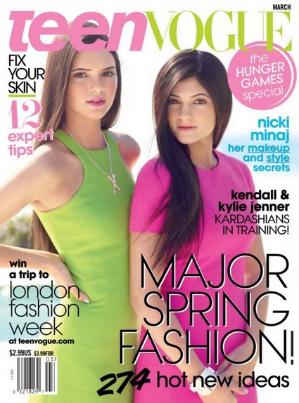 Kendall & Kylie Jenner Cover Teen Vogue March 2012