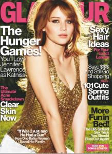 Jennifer Lawrence Covers Glamour