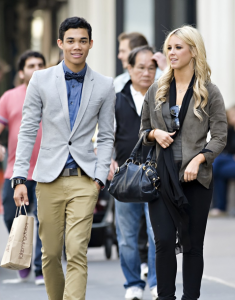 Roshon Fegan and Chelsie Hightower Stroll in NYC