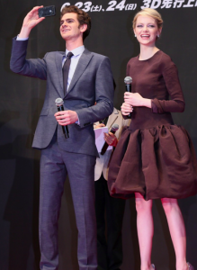 Emma Stone and Andrew Garfield at 'Spider-Man' Premiere