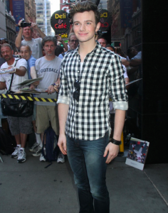 Chris Colfer Appears on GMA