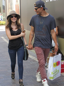 Lucy Hale and Chris Zylka All Smiles