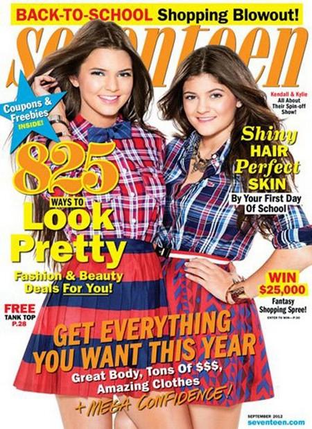Kendall Jenner & Kylie Jenner Cover Seventeen September 2012