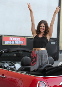 Lucy Hale Attends Drive-In for 'Pretty Little Liars' Episode