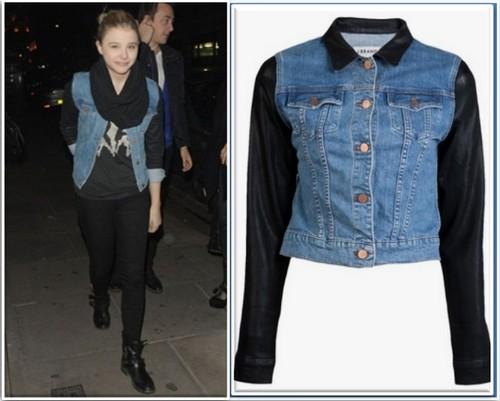 Celeb Teen Style: Chloë Moretz Wearing A J Brand Coat