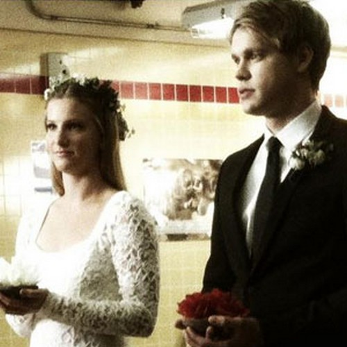 New Glee Photo: Brittany Marries Sam?