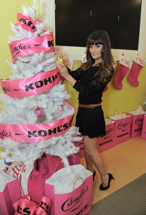 Lea Michele and Candie's Get Into The Holiday Spirit (Photos)