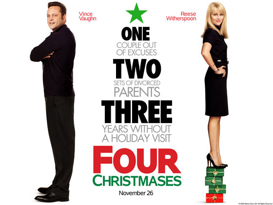 25 Days of Christmas: Our Favorite Holiday Movie Countdown # 8 - Four Christmases