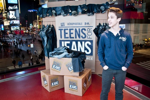 "Ryan Beatty in Times Square For ""Teens for Jeans"" Campaign (Photos)"