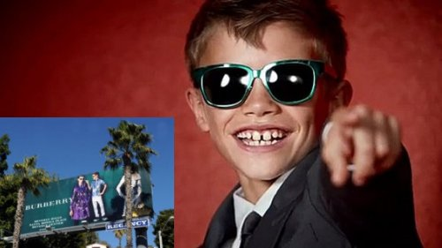 Romeo Beckham Is A Cutie On Sunset Strip Billboard