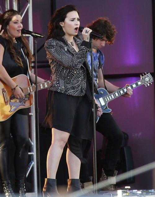 Demi Lovato Performing at KIIS-FM's Wango Tango Concert