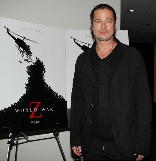 Brad Pitt Premieres World War Z in New York and New Jersey!