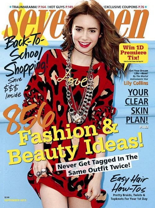 Lily Collins Talks Her Love Advice To Seventeen Magazine (Photos & Video)