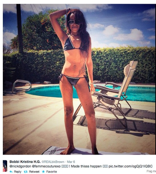Bobbi Kristina Brown Shares Skeletal Photo of Herself: Too Thin?