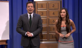 Megan Fox On Late Night Show With Jimmy Fallon (Video)