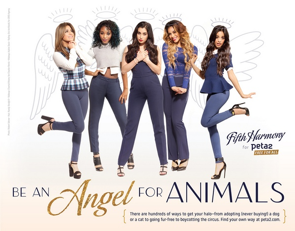 Fifth Harmony and peta2 - 'Be an Angel for Animals' and Earn Your Halo