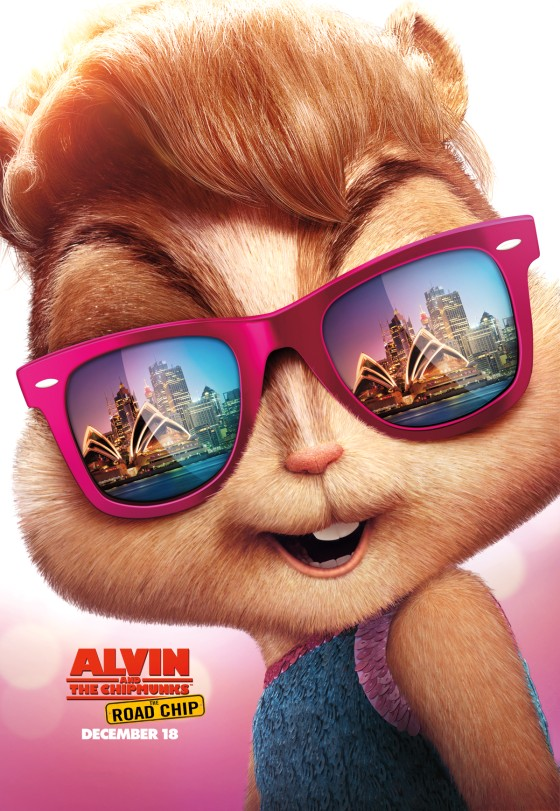Alivn and the Chipmunks Road Chip poster